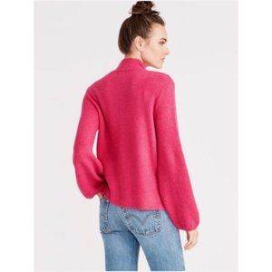 Rachel Roy Shayla Mock Neck Blouson Sweater Size S